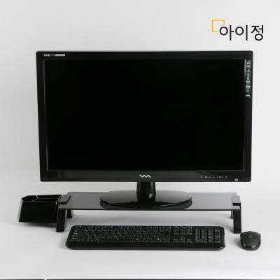 스마트독브릿지 모니터받침대 S348 블랙유리/블랙
