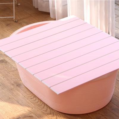 쉼표 하나 핑크 이동식욕조 + 배수구