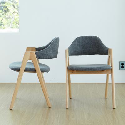 [리비니아]A형 패브릭 의자 1+1