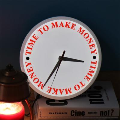 ng431-LED시계액자25R_돈벌시간입니다