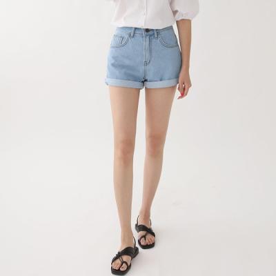 Rolled Up Denim Shorts