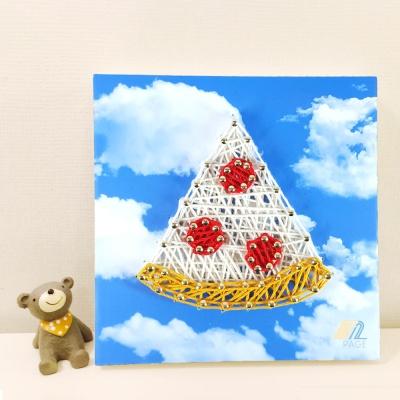 꼬마 피자 스트링아트 만들기 패키지 DIY (EVA)