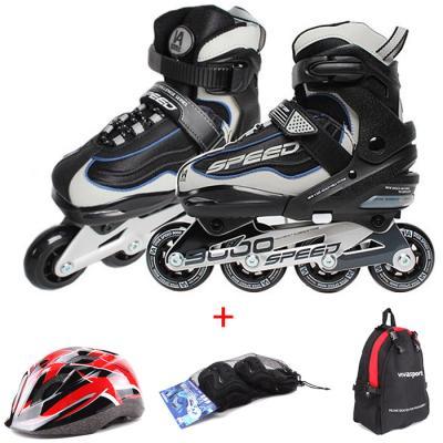 비바스피드 인라인9000 풀셋 블랙 헬멧+보호대+가방