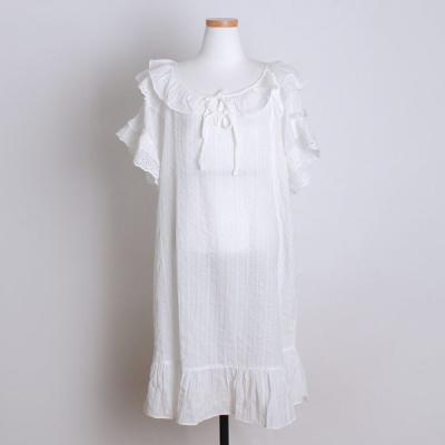 [쿠비카]U네크라인 슬립웨어 원피스 여성잠옷 W323