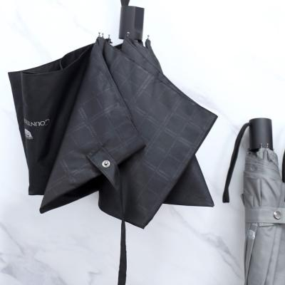 CM 3단 엠보 체크 반 자동우산 가벼운우산