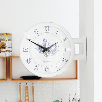 모던양면시계 라벤더 화이트