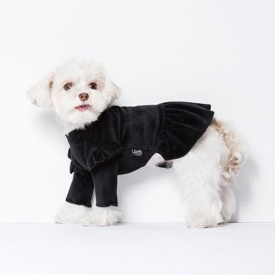 스니프 벨벳 프릴 드레스 (블랙)