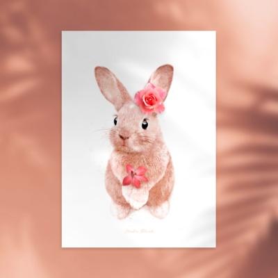 플라워포켓 토끼 + 행잉프레임 세트
