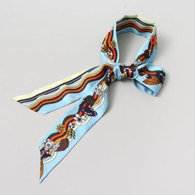 Silk Blossom Long Tie Scarf