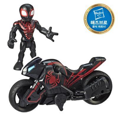 마블 슈퍼히어로 피규어 모터사이클세트 스파이더맨