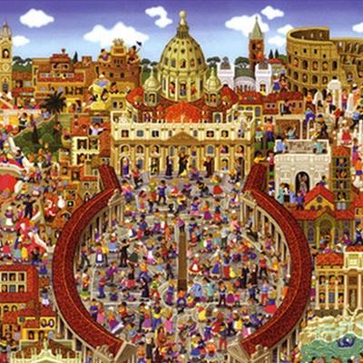퍼즐 명화 로마 명소 컬렉션 500 피스 1000 피스직소퍼즐
