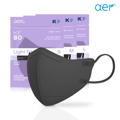 [아에르] 스페셜 에디션 KF80 라이트핏 블랙 10매