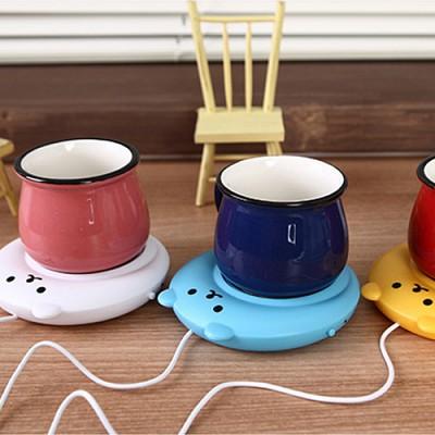 큐티 베어 USB 컵 온열스토브 워머