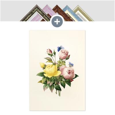 인테리어 캔버스 꽃액자 선인장액자 파랑 나비의 정원