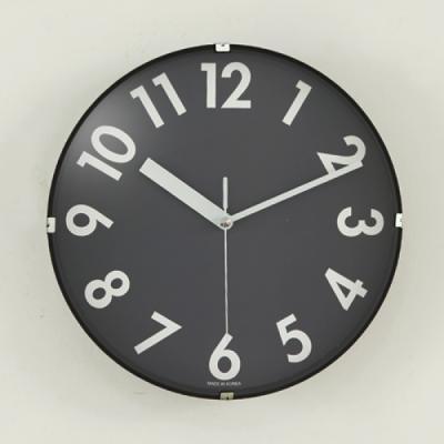 블랙 N 화이트 저소음 벽시계 (블랙) 시계 추카추카넷