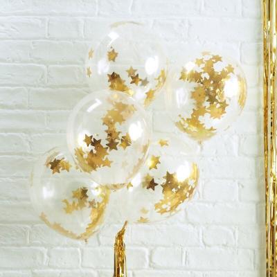 골드 별모양 컨페티 풍선 Gold Star Confetti Balloon