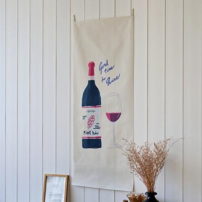 와인 세로형 패브릭 포스터 / 바란스커튼