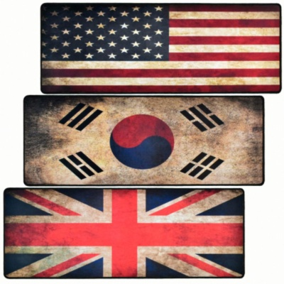 지클릭커 G TRACTER HOME 2 빈티지 국기 장패드 한국