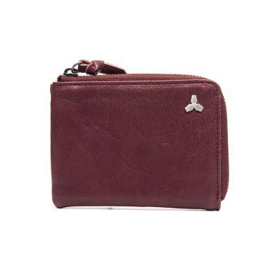 [코앤크릿] 17WTA0202G01BG 트리포드 엣지 지퍼 카드지갑 버건디
