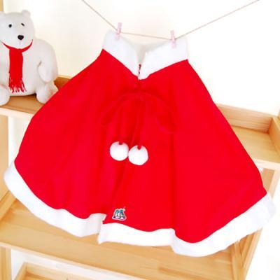 산타 망토 세트 (여성/아동용) - 산타 망토 + 모자