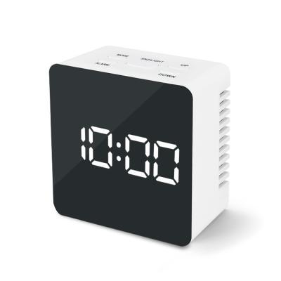 엑토 블링 LED 미러 시계 정사각형 SLH-07