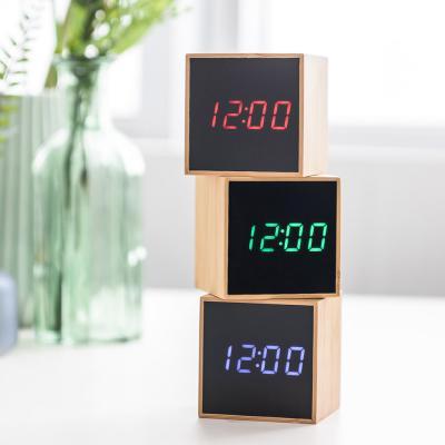 오리엔트 큐브 OT1609 온도표시 디지털탁상시계 3종