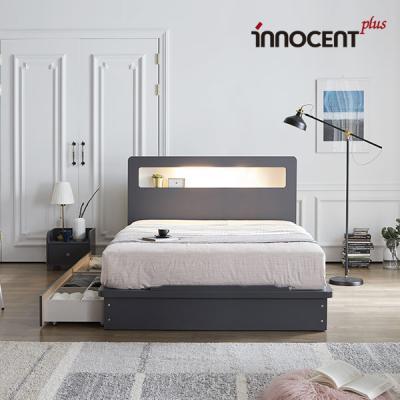 [이노센트] 리브 베리나 LED 큰서랍 침대 Q/K