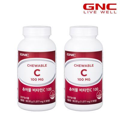 [GNC] 츄어블 비타민 C 100 (90정) x2병