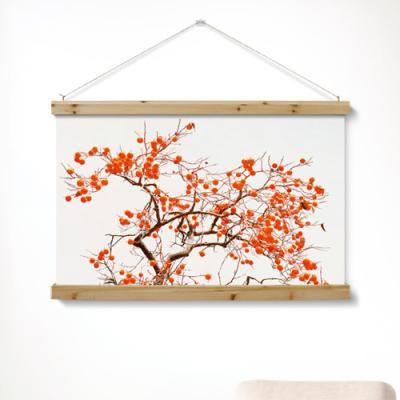 pi365-우드스크롤_90CmX60Cm-그림같은풍수감나무