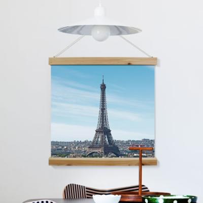 ah303-우드스크롤_60CmX60Cm-오후의에펠탑풍경