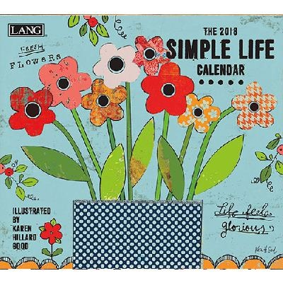2018 벽걸이 달력 - Simple Life