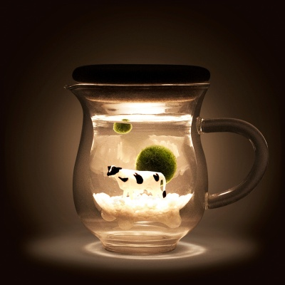 [빛가든] 젖소컵 마리모-02. [추가선택]마리모 소(1cm)
