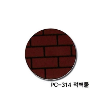 [현진아트] PC무늬보드롱 5T (PC-314적벽돌) 6x9 [장/1]  116056