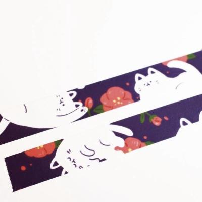 꽃놀이 고양이 마스킹 테이프