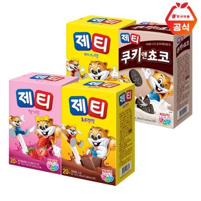 제티 20T+20T 초코/딸기/바나나/쿠키