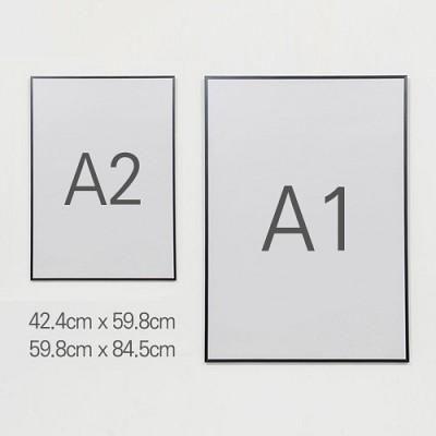 메탈프레임 A1 A2 스퀘어 대형액자 594x841 420x594 - 벽걸이전용 사진액자 알루미늄액자