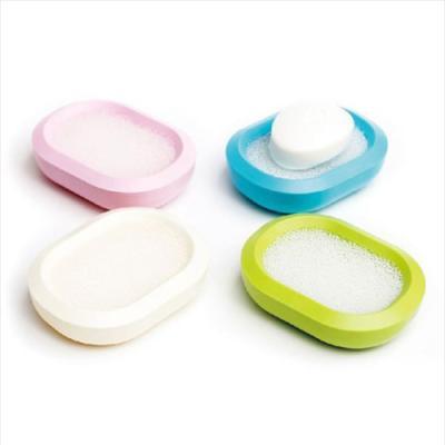 스펀지 비누 받침 1개(색상랜덤)