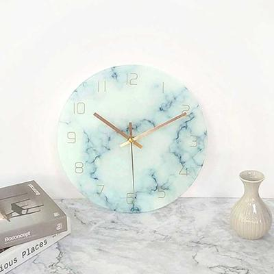 HOME interior marble 패턴 벽시계 건전지포함 3color