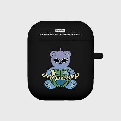 Space night bear-black(Air pods)