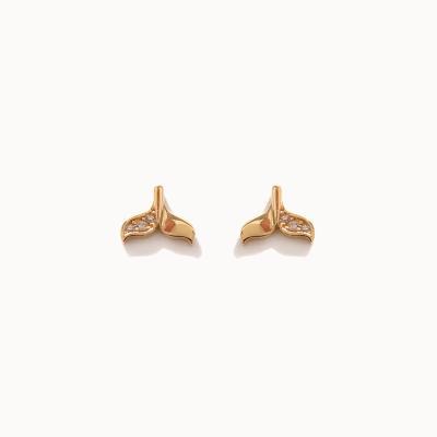 제이로렌 1G0218 10K 행운 고래꼬리 골드 귀걸이