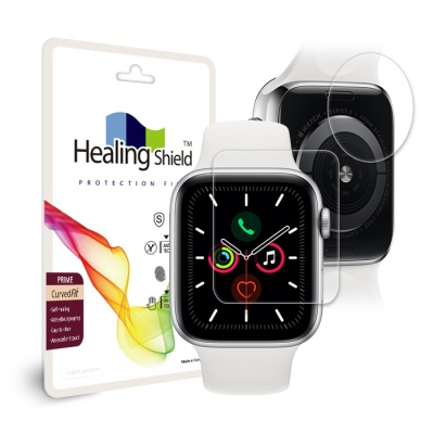 애플워치5 44mm 프라임 액정2매+심박센서 2매