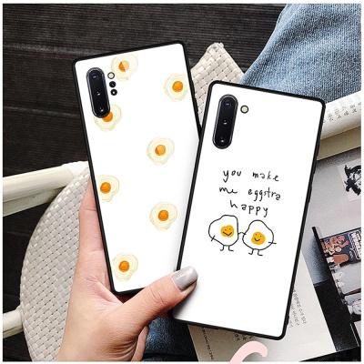 갤럭시노트9 노트9 에그 패턴 강화유리 휴대폰 케이스