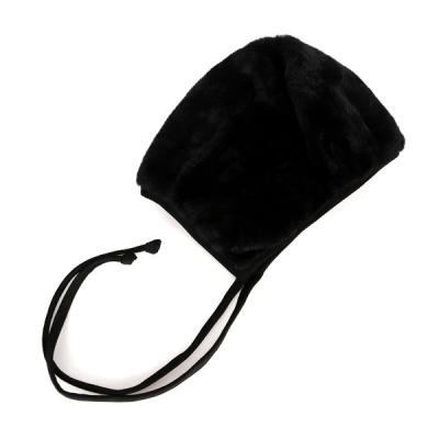 [디꾸보]방한 인조양털 끈 리본 싸개 모자 AC667