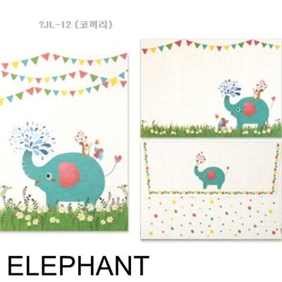 디원 미니 편지지 JL12 코끼리 1개