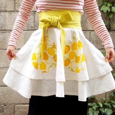 blossom apron;lemon (+주방장갑포함)