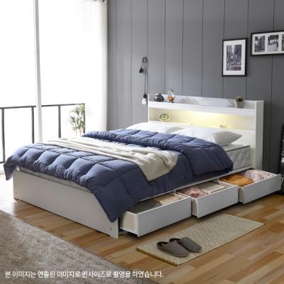 아르메 엘피노 LED 수납형 침대 SS_밸런스 독립라텍스