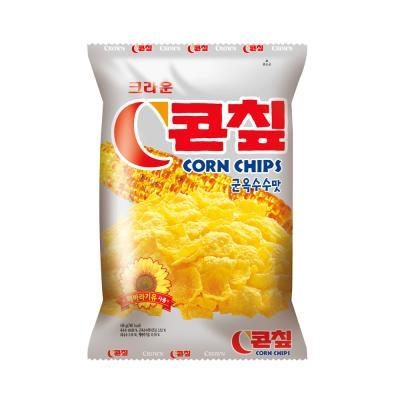 크라운 콘칩 과자 (대) 148g 콘칲