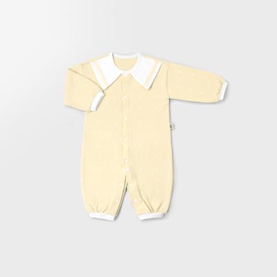 [메르베] 심플마린 신생아 실내우주복_사계절용