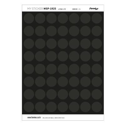 폼텍 마이스티커 프린트 전용 라벨 19 블랙 25mm