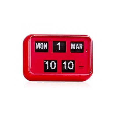 [트웸코] 캘린더 벽 플립시계 QD-35 (Red)